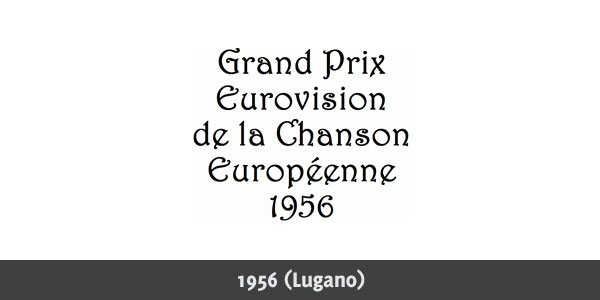 Eurovision Song Contest 1956 logo