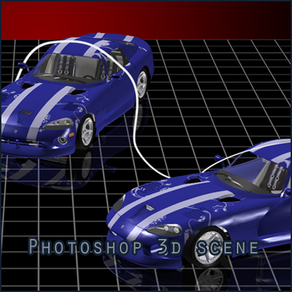 3d Scene Dodge Viper