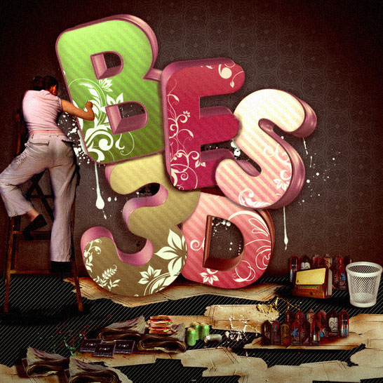 Beautiful 3d Typography 05