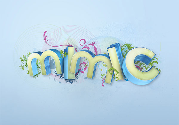 Beautiful 3d Typography 13