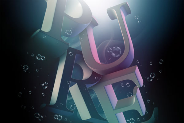 Beautiful 3d Typography 15