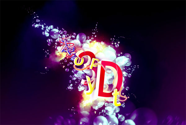 Beautiful 3d Typography 21