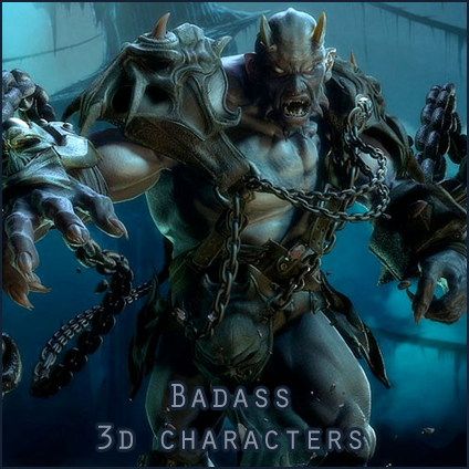 Superb Badass Looking 3d Fictional Characters From CGTalk