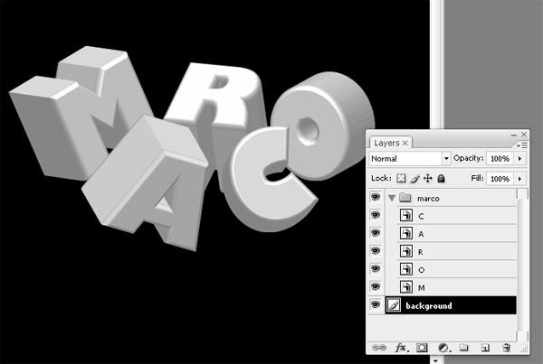 stunning 3d typo 03 Tạo Kiểu Chữ 3D với Ánh Sáng Neon Tuyệt Đẹp