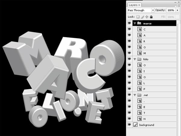 stunning 3d typo 04 Tạo Kiểu Chữ 3D với Ánh Sáng Neon Tuyệt Đẹp