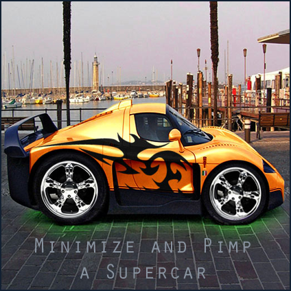 Super  Picture on Mini Super Car With Bodypaint Using Adobe Photoshop   Grab A Picture