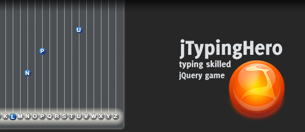 jTypingHero - Test your typing skills in this jQuery game