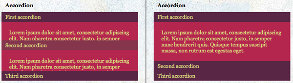 CSS3 and jQuery Animations - Accordion