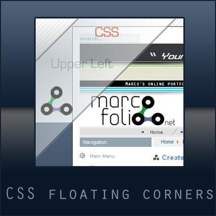 Valid css floating corners - Css div float ...