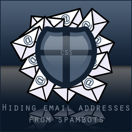Hiding email addresses from spambots using CSS