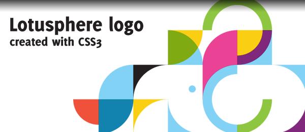 IBM Lotusphere logo in CSS3