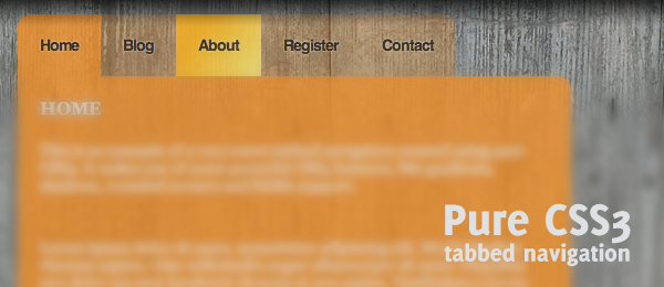 Sweet tabbed navigation using CSS3