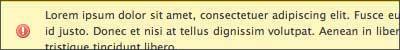 Create a valid CSS alert message