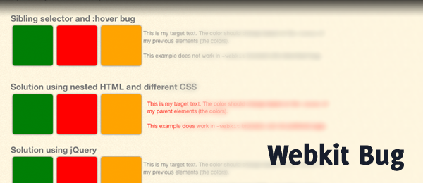 Webkit Bug