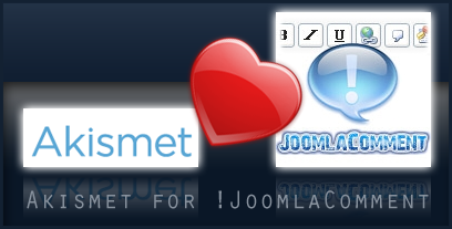 Enable Akismet support in !JoomlaComment