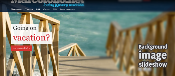Beautiful advanced jQuery background image slideshow