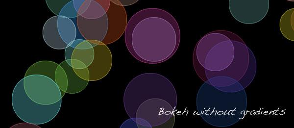 Pure CSS3 bokeh effect - 06