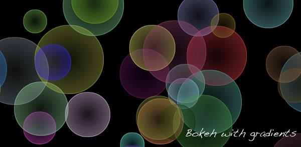 Pure CSS3 bokeh effect - 07