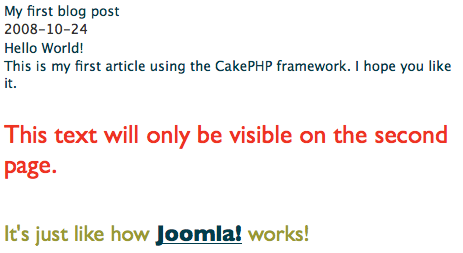 Building a blog with CakePHP 04