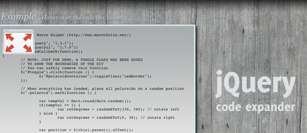 jQuery Code Expander
