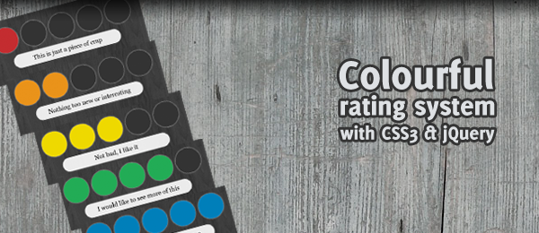 Colourful rating system with CSS3