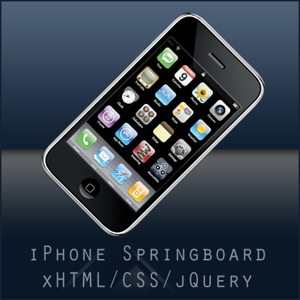 The iPhone Springboard in xHTML, CSS and jQuery