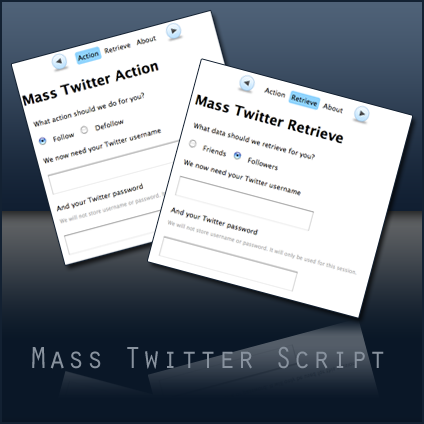 Mass Twitter Script