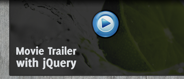 Theatrical movie trailer with jQuery