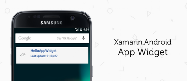How to make an App Widget with Xamarin.Android