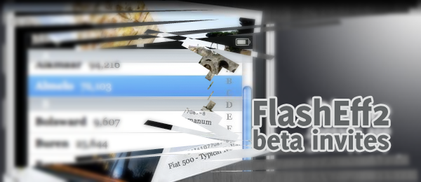 FlashEff2 Beta Invites Giveaway